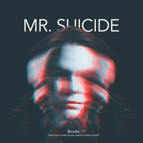 Suicide design with the title 'Minimal Album Art design'