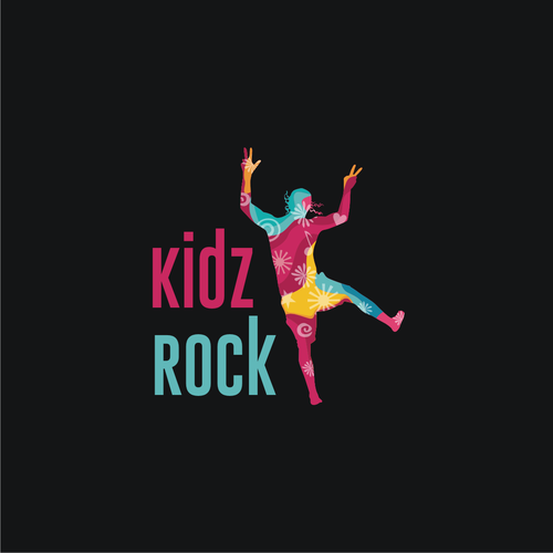Freehand logo with the title 'kidz rock'