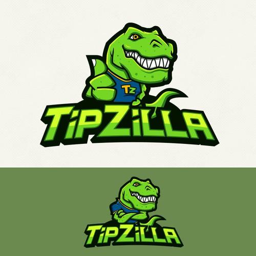 Dinosaur logo with the title 'Dinosaur Logo'