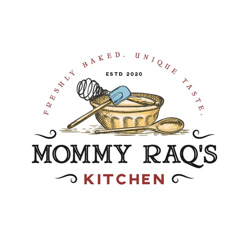 Bowl design with the title 'Organic logo for bakery store'