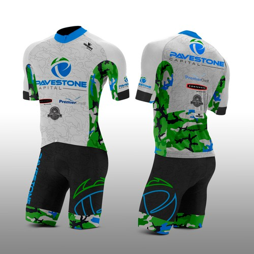 Camouflage design with the title 'Modern cycling kit design'
