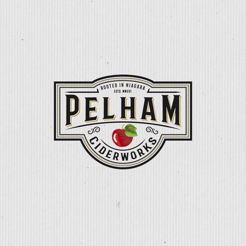 Cider logo with the title 'Pelham Ciderworks'