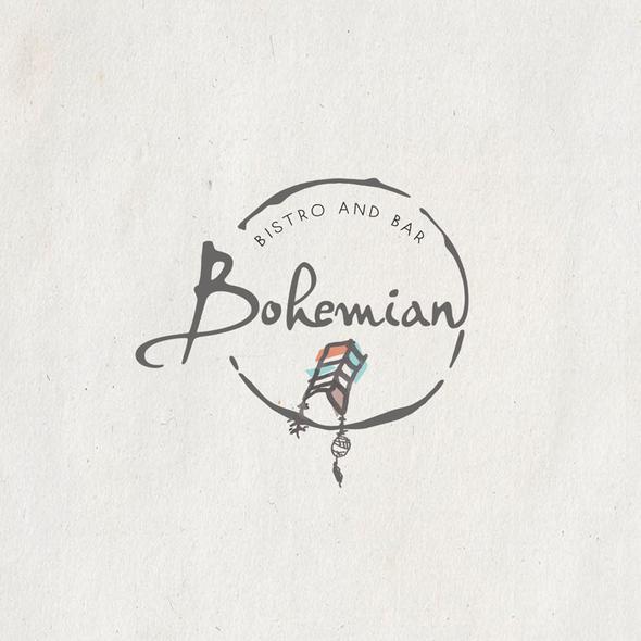 Boho logo with the title 'boho bistro and bar logo'