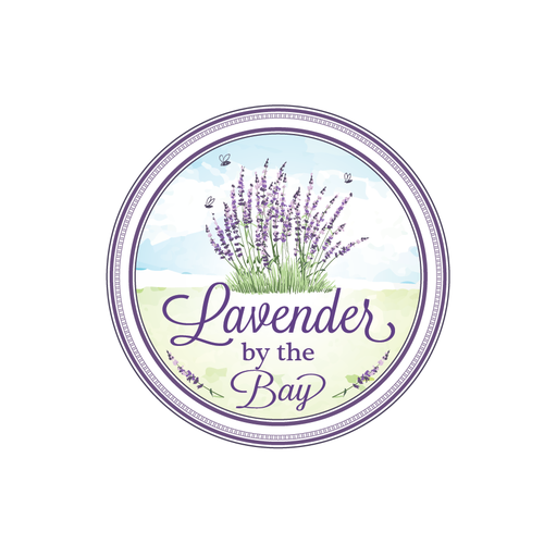 Watercolor design with the title 'Lavender By the Bay needs a new logo'