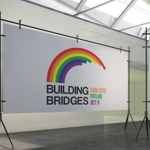 LGBT logo with the title 'LGBA 2020'