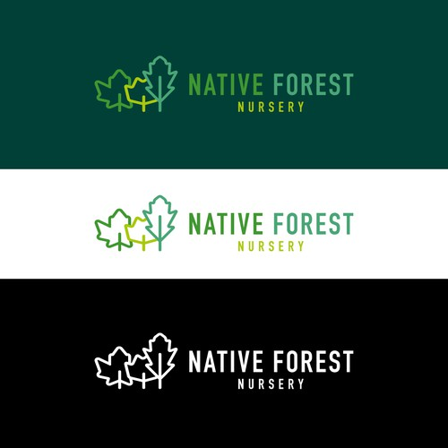 Native logo with the title 'Native Forest Nursery logo'