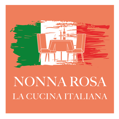 Grandma logo with the title 'Italienisches Restaurant'