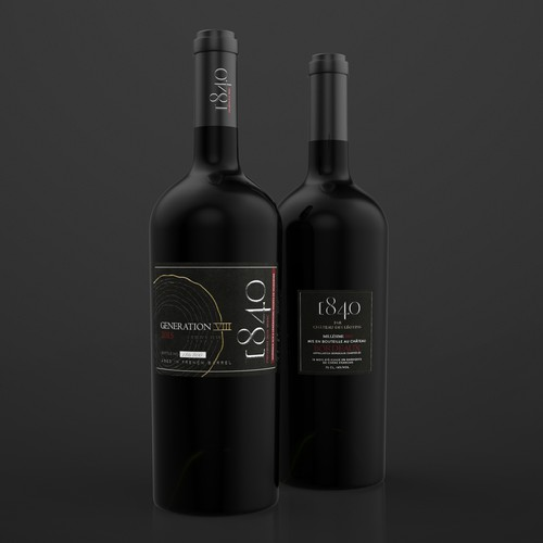 Best design with the title 'Label design for the Bordeaux wines'