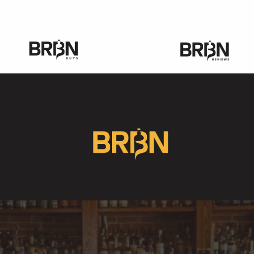 OK design with the title 'BRBN -- A Bourbon '