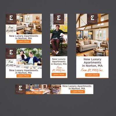 Luxury Apartments Banner Design