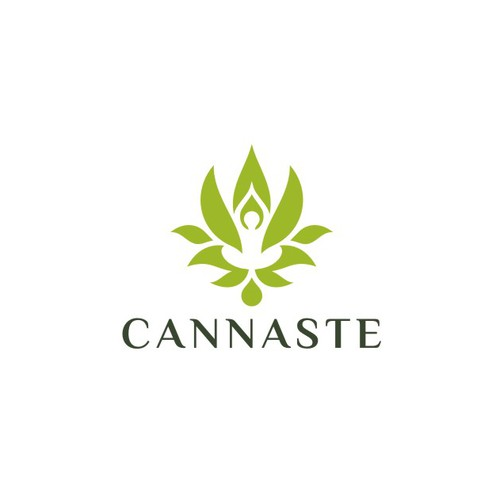 Lifestyle logo with the title 'Powerful logo for Cannaste'