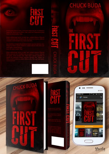 Dark book cover with the title 'The First Cut'