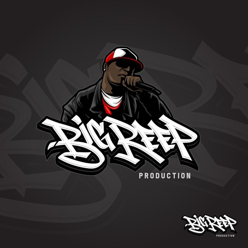 Hip hop logo with the title 'Hiphop producer logo'