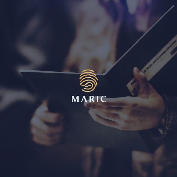 Criminal logo with the title 'Maric logo'