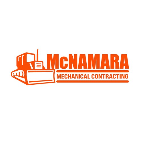 Contractor logo with the title 'McNamara Mechanical Contracting'