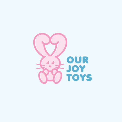 Rabbit design with the title 'Our Joy Toys'