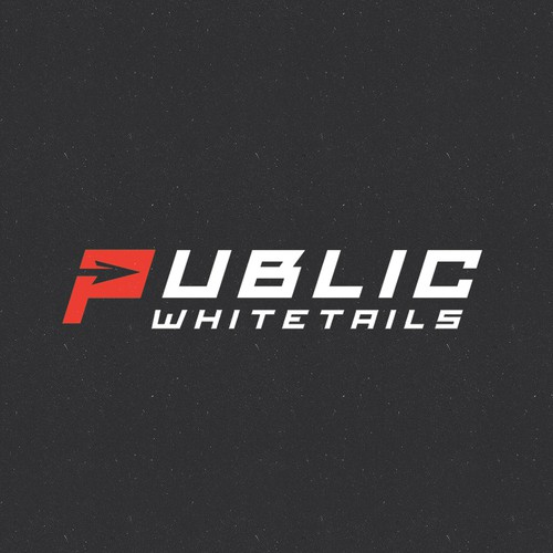"""Deer hunting logo with the title 'Unique and Simple Logo for """"Public Whitetails""""'"""