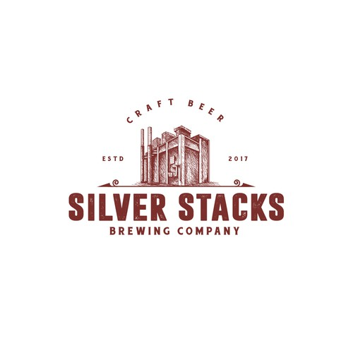 Emblem brand with the title 'Silver Stacks Brewing Company'