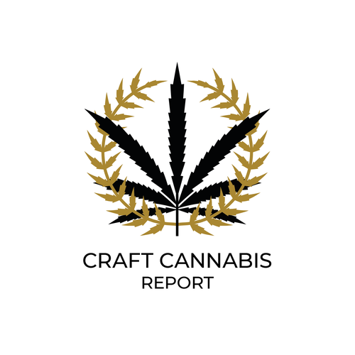 Award logo with the title 'Brand for Cannabis Report'