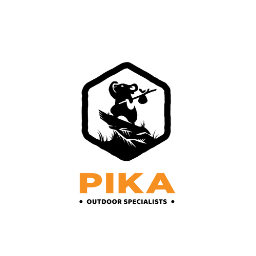 Hiking logo with the title 'Pika Outdoor'