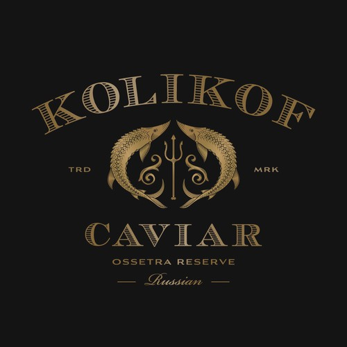 Gold logo with the title 'Kolikof Caviar'