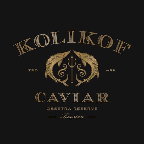 Trout logo with the title 'Kolikof Caviar'