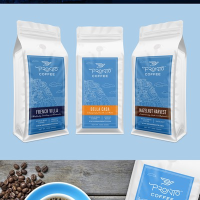 Labels for coffee company
