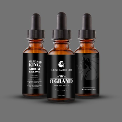 Product Label for Hair and Beard oil