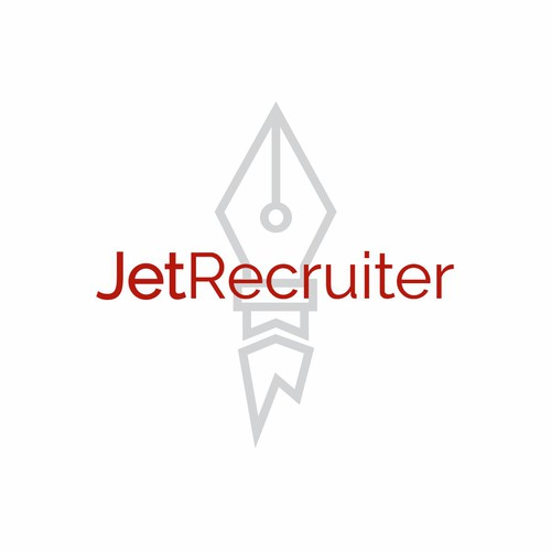 Fountain pen logo with the title 'JetRecruiter 03'