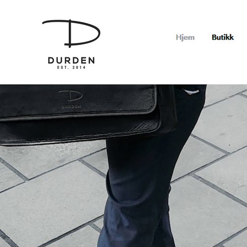 Leather design with the title 'Logo for a Fashion Norwegian Brand: www.durden.no'