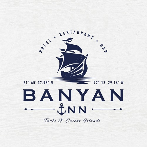 Maritime design with the title 'Identity for a nautical hotel & restaurant located in Turks,  Caicos Islands'