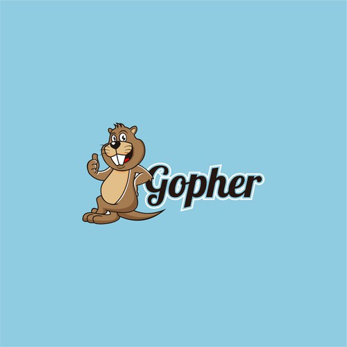 Gopher logo with the title 'Gopher Mascot'
