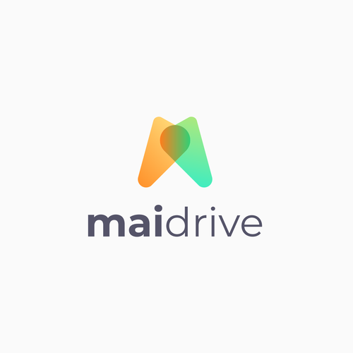Pictogram logo with the title 'mai drive'