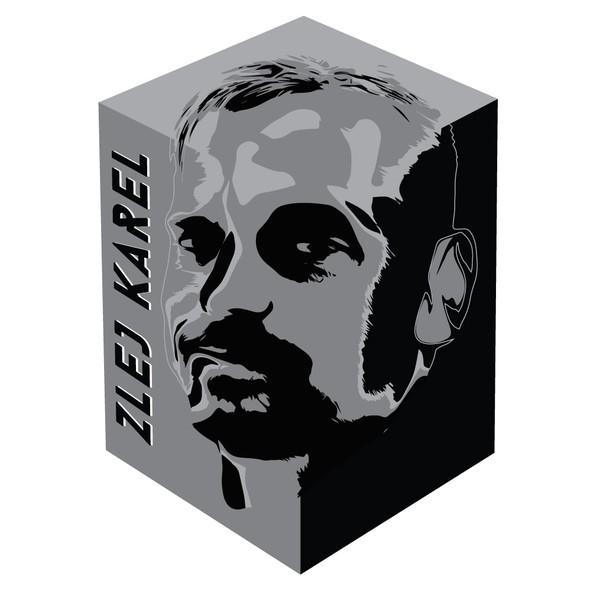 Birthday design with the title 'Zlej (sullen or evil) Karel - logo'