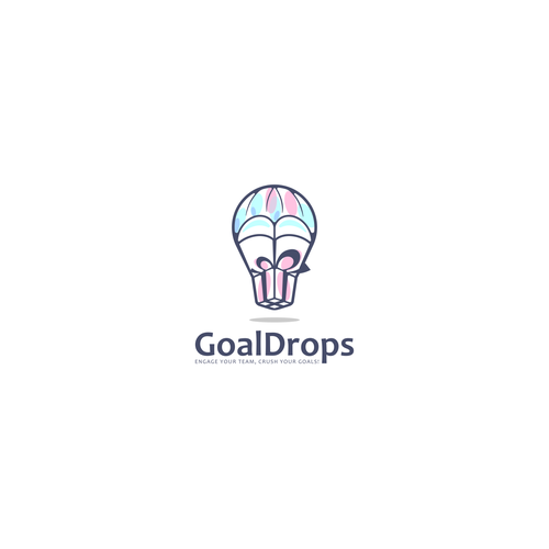 Parachute design with the title 'GoalDrops'