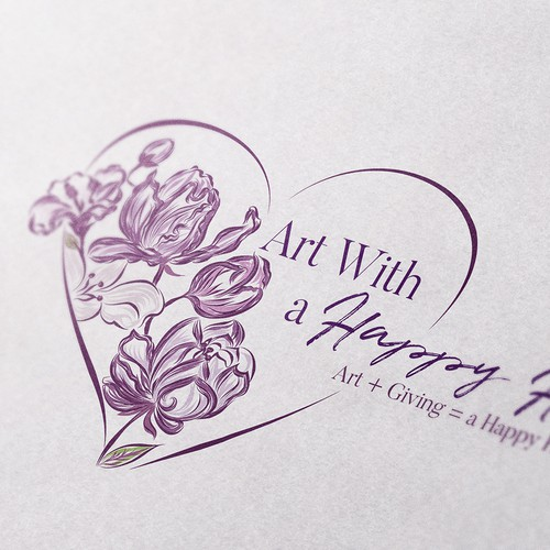 Iris logo with the title 'Floral logo concept for Art Studio'