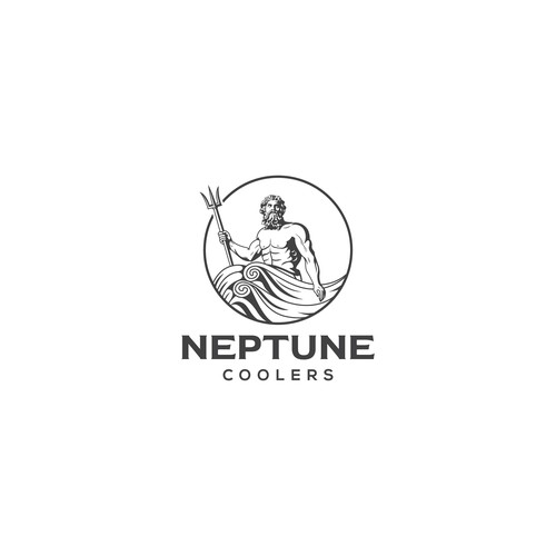 Roman logo with the title 'NEPTUNE COOLERS'