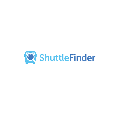 Shuttle service logo with the title 'Shuttle finder'