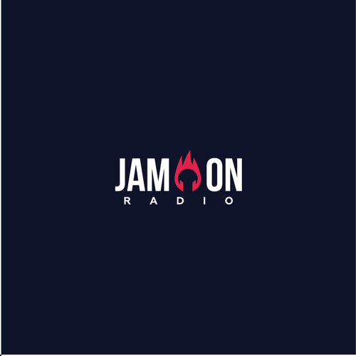 Flame logo with the title 'Jam On Radio Logo'
