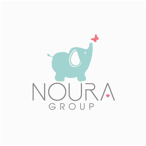 Childcare logo with the title 'NOURA'