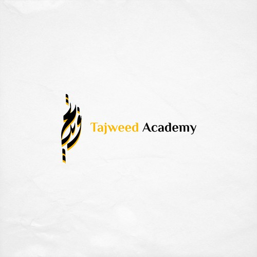 Arabic design with the title 'Tajweed Academy Logo'
