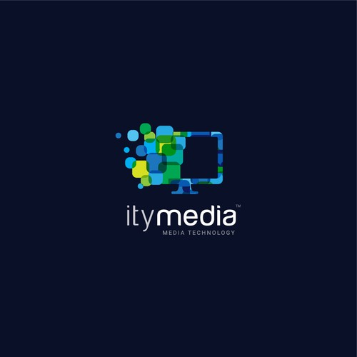 Multimedia design with the title 'itymedia - Innovative logo for IT and Media Technology Company'