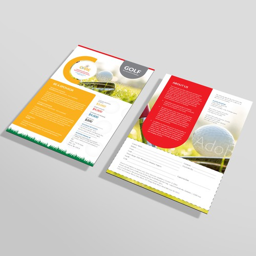 Company profile design with the title 'Flyer Design'