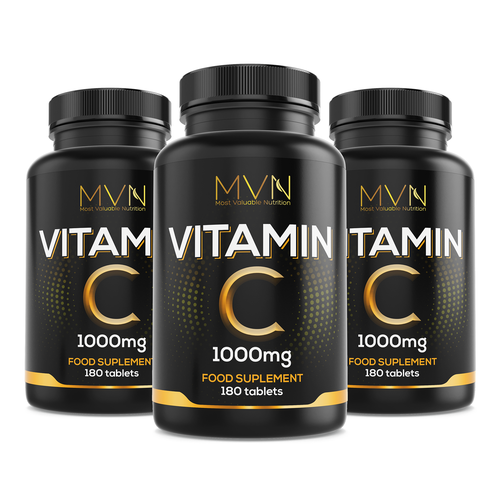 Loud design with the title 'Concept design for vitamin c product'