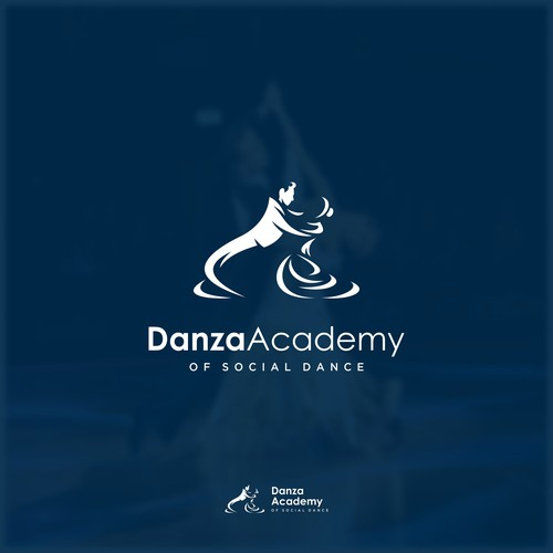 Dance school logo with the title 'Logo Concept for Danza Academy'