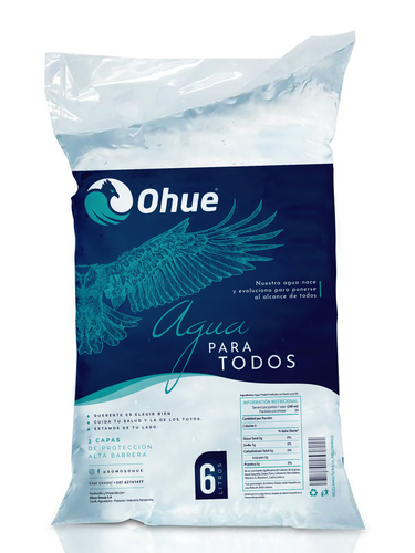 Shopping bag packaging with the title 'Ohue packaging'