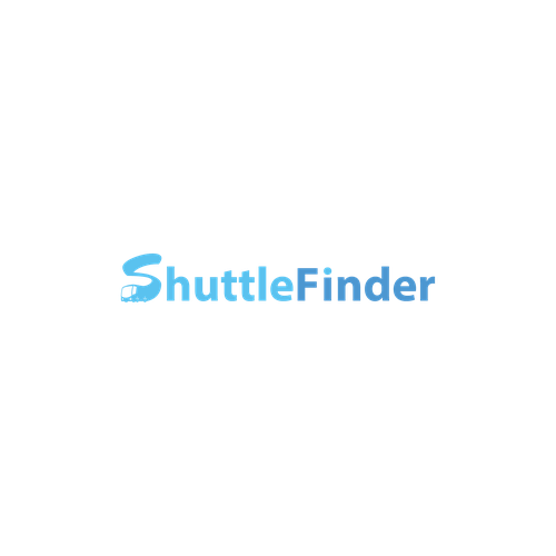 Airport logo with the title 'logo template for ShuttleFinder'