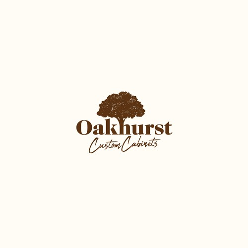 Toilet logo with the title 'Oakhurst Custom Cabinets'