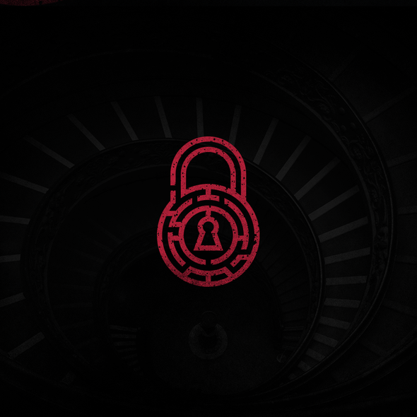 Padlock design with the title 'Logo For Escape Room'