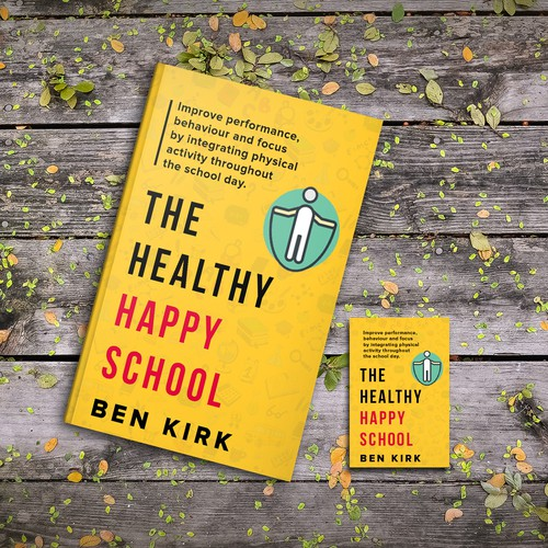 School book cover with the title 'The Healthy Happy School'